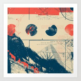 Exploration Fragments Tile 10/12 Art Print
