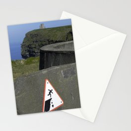cliffs of moher warning Stationery Cards