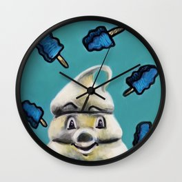 """Mr. Tastee"" by Kristin Frenzel Wall Clock"