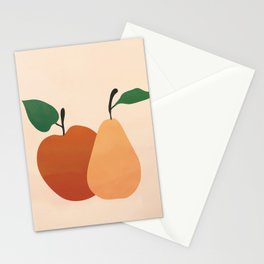 An Apple and a Pear Stationery Cards