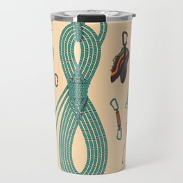 Climbing gear square Travel Mug
