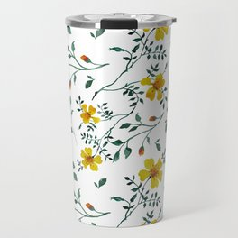 Little yellow flowers Travel Mug