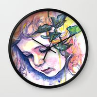 poison ivy Wall Clocks featuring Poison Ivy by Lauralouisa