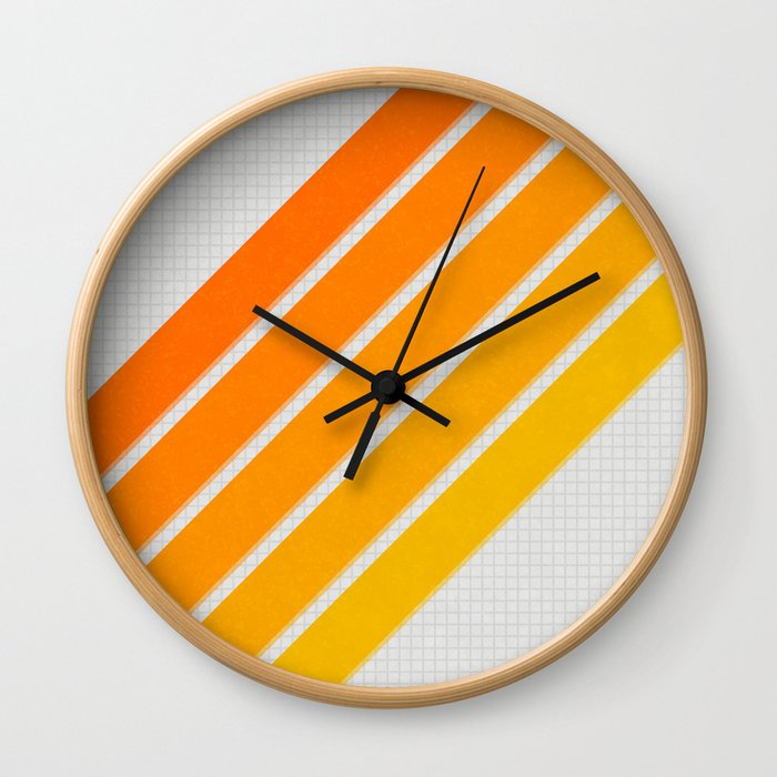 Orange Color Drift Wall Clock