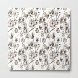 Cotton Boll Metal Print