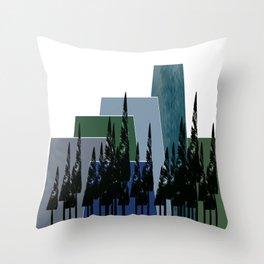 High Mountains Throw Pillow