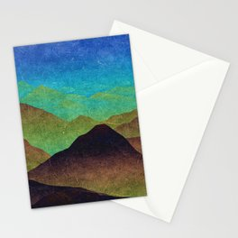 Through hilly lands and hollow lands Stationery Cards