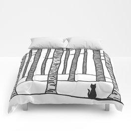Cat Waits Comforters