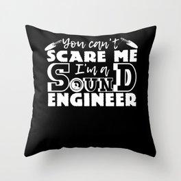 Sound Engineer Saying Audio Mixer Technician Throw Pillow