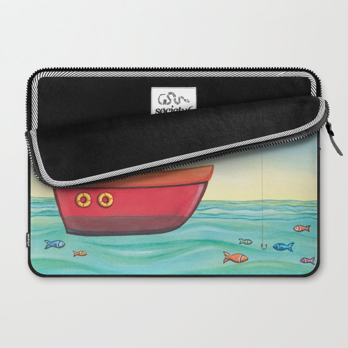Happy Fishing Day Laptop Sleeve