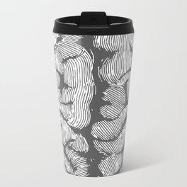 Brain vintage illustration Metal Travel Mug
