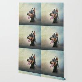 Drawing Doberman dog 2 Wallpaper