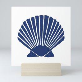 Navy Seashell Mini Art Print