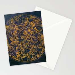Vintage Constellations & Astrological Signs | Purple Galaxy Stationery Cards