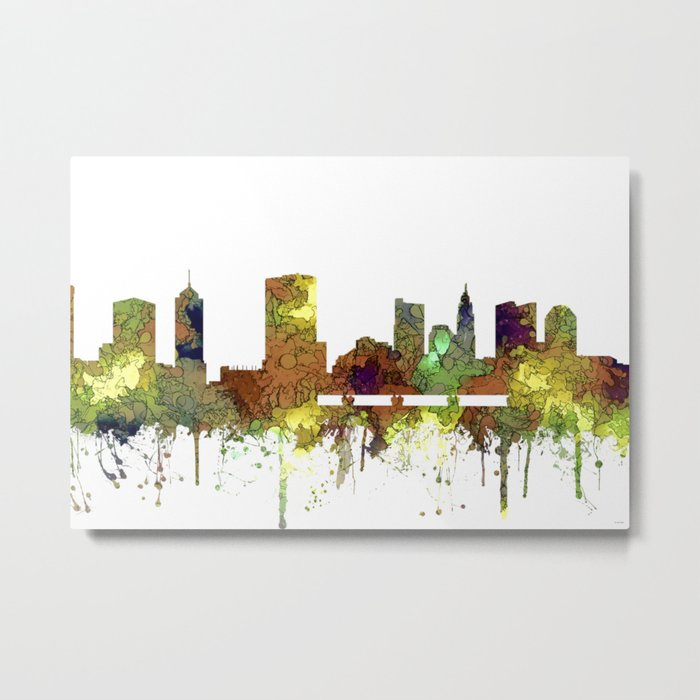 Columbus, Ohio Skyline SG - Safari Buff Metal Print