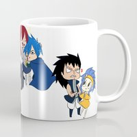 fairy tail Mugs featuring Fairy Tail Chibi Couples by Minty Cocoa
