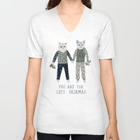 toddler V-neck T-shirts featuring You are the Cat's Pajamas by Yuliya