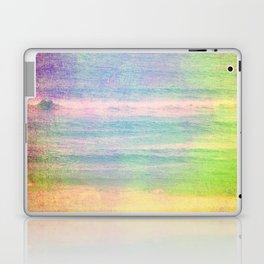 Abstract grunge ocean view Laptop & iPad Skin