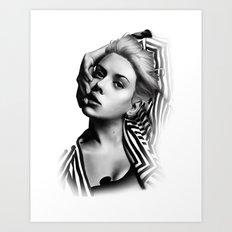 Pulling Lip Art Print