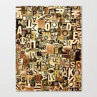 alphabet Canvas Prints featuring Alphabet by Kerri Swayze
