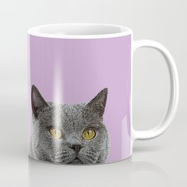 Lavender Home Decor Lilac Decoration British Short haired Cat Bag Pastel Colors Coffee Mug