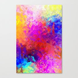 Colorful Splatter Canvas Print
