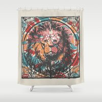 leo Shower Curtains featuring Leo by Heinz Aimer