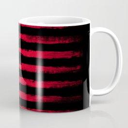 Vintage American flag on black Coffee Mug