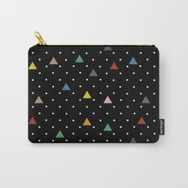 Pin Point Triangles Black Carry-All Pouch