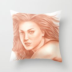 Woman Portrait 3 Throw Pillow