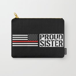 Firefighter: Proud Sister (Thin Red Line) Carry-All Pouch