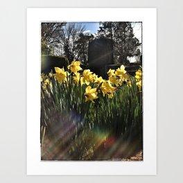 Graveyard Flowers Art Print