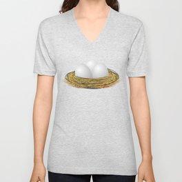 Eggs in the nest Unisex V-Neck