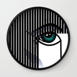 Woman's Profile Wall Clock