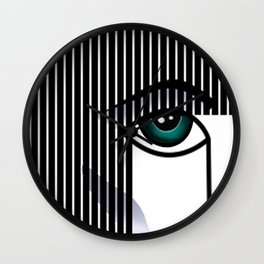 Woman's Profile Wall Clock