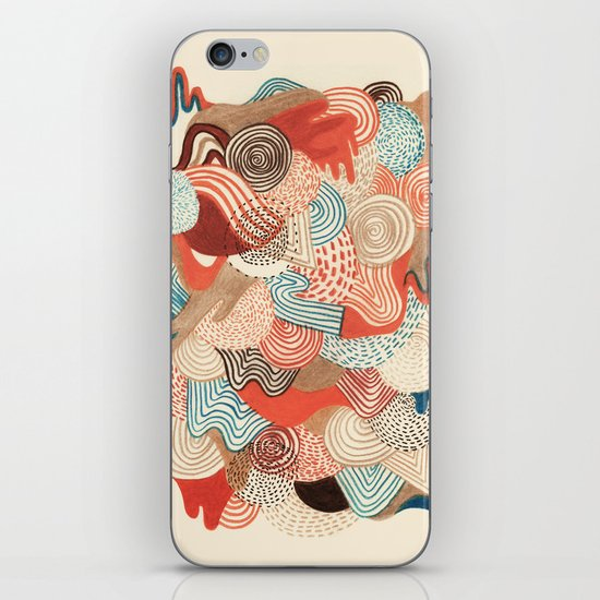 Melting time iPhone & iPod Skin