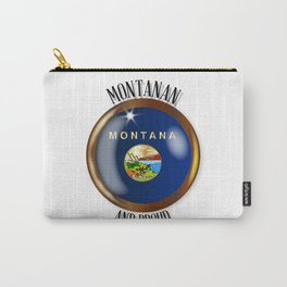 Montana Proud Flag Button Carry-All Pouch