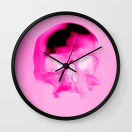 Magenta Skull Wall Clock