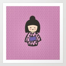 Geisha Dress Code (pink) Art Print
