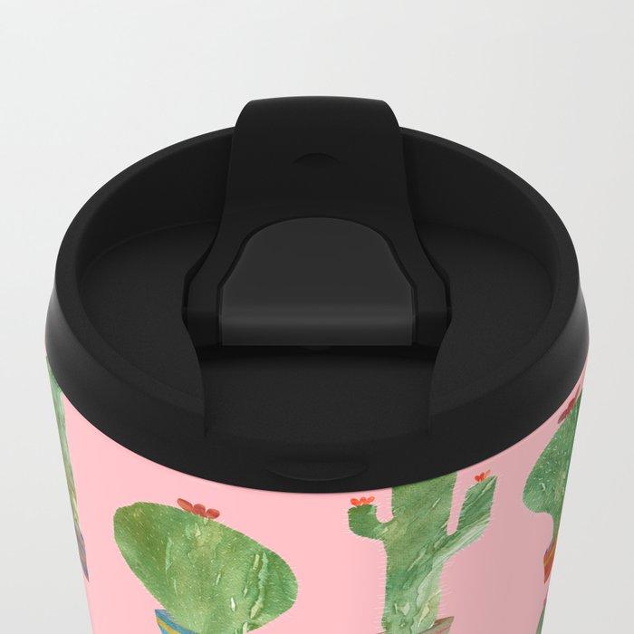 Cactus Pink!! Metal Travel Mug