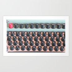 Mad Men Typewriter Art Print
