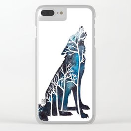 Wolfs night Clear iPhone Case