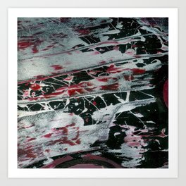 Black Pearl Abstract Art Print