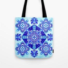 Inner wisdom (blue mandala) Tote Bag