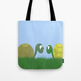 Ellie and Ollie, and Their New Friend Tote Bag