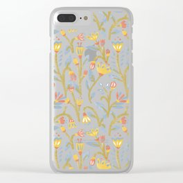 Bright Garden Pattern Clear iPhone Case