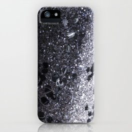 Black and Gray Glitter Bomb iPhone Case