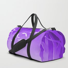 Dark Forest at Dawn in Amethyst Duffle Bag