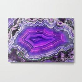 Violet and pink agate Metal Print