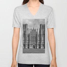 Wells Cathedral, UK Unisex V-Neck